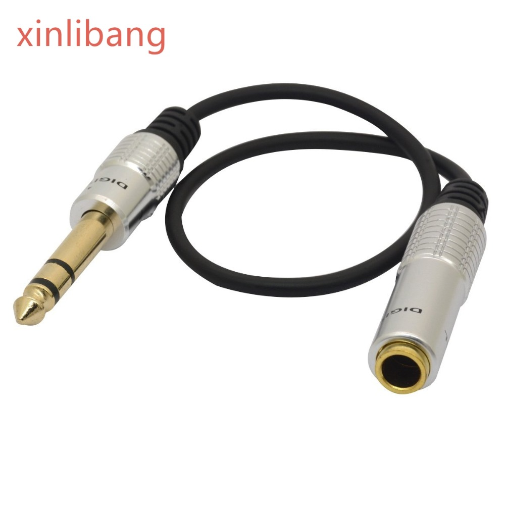 6.35mm Male To 6.35mm Female Adapter Audio Auxiliary Stereo Extension Cable 1/4 Inch TRS Stereo Jack Cord Convertor Headphone