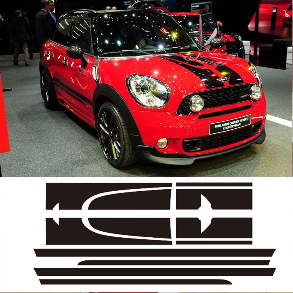 Decal Sticker Stripe Kit Mini Countryman Cooper S Racing Hood Side - Ավտոմեքենայի արտաքին պարագաներ - Լուսանկար 2