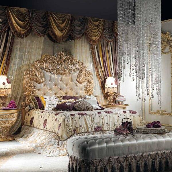 Stile europeo di lusso imperiale in legno intagliato camera da letto ...