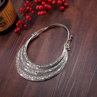 necklaces & pendants Bohemia Tassels Miao necklace Retro Yunnan Ethnic exaggeration Three layers Miao silver manual Collar