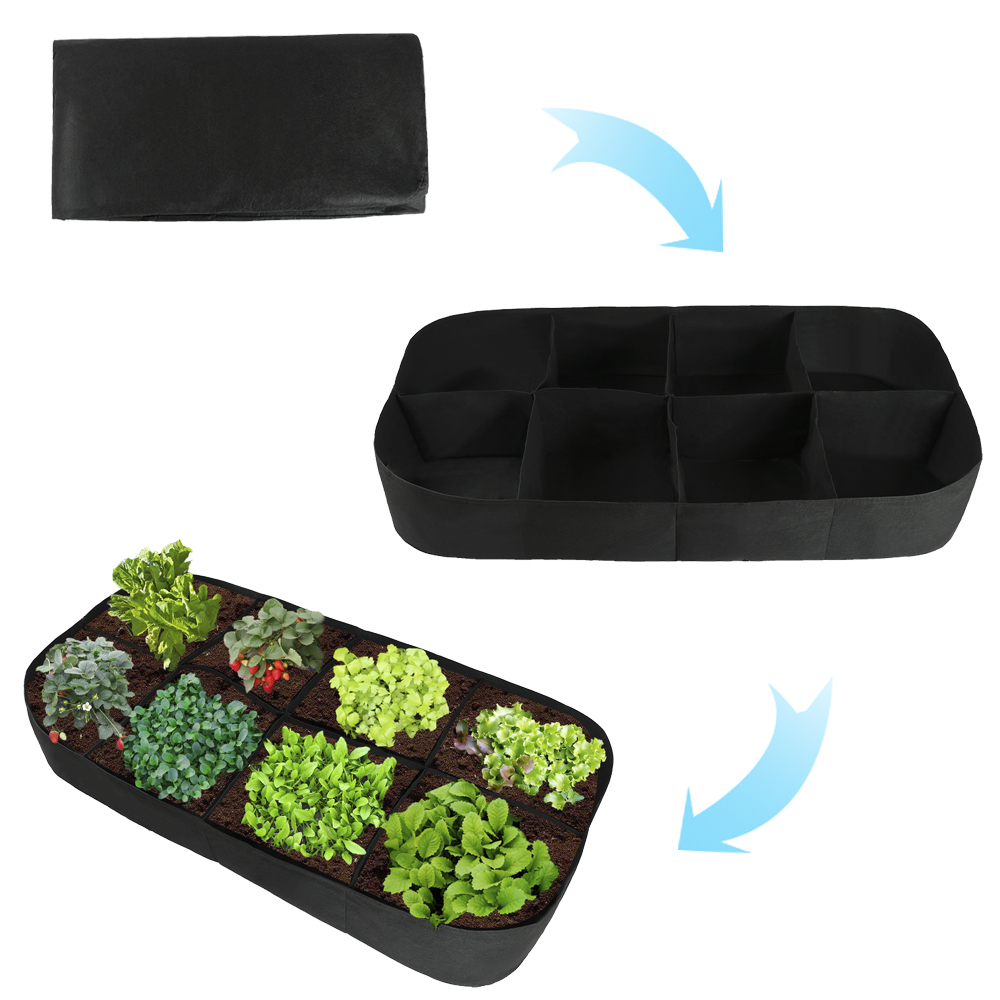 Garden Supplies 8 Grids Seeding Tray Nursery Pot Bonsai Flower Pots Green Succulent Plants Pot Seed Grow Box