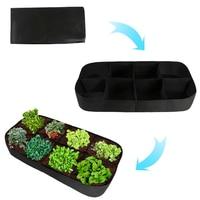 Garden Supplies 8 Grids Seeding Tray Nursery Pot Bonsai Flower Pots Green Succulent Plants Pot Seed Grow Box