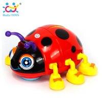 HUILE SPEELGOED 82721D Baby Speelgoed Cartoon Elektrische Lieveheersbeestje Baby Leren Speelgoed Crawl Educatief Speelgoed met Muziek en Licht