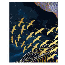 RIHE Flying Birds Diy Oil Painting By Numbers Kits Animal Wall Art Picture Home Decor Abstract Acrylic Paint On Canvas For Arts мегре в новая цивилизация кн 8 ч 1