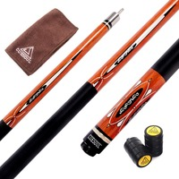 Cuesoul CSPC032 58 Inch Canadian Maple Wood 1 2 Jointed Pool Cue Stick Billiard Cue Cue