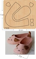 Cute puppy little shoes wooden die/cutting tool die/ Scrapbook mold/YT0210