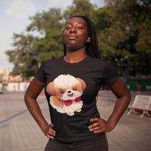 Shih Tzu Dog T-Shirt Love T Shirt Short-Sleeve Street Wear Women tshirt Funny XXL O Neck Printed Ladies Tee