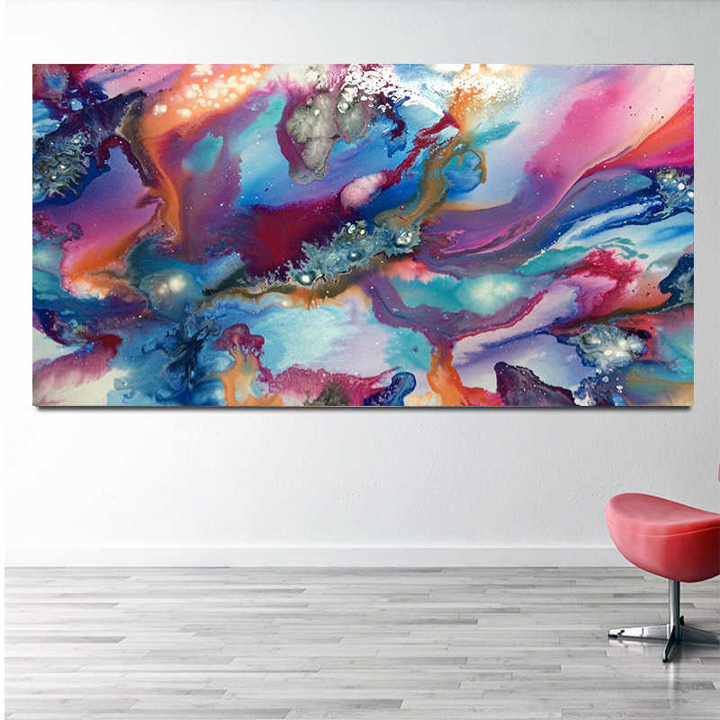 Canvas Printings Acrylic abstract Art Painting Ideas Fluid Paint Techniques  Simple Abstract Drawing Examples Wall Art Posters