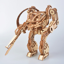 3D DIY Wooden Toys Puzzle AMP Mechanical Battle Armor Modern Fashion Robots Model Set Educational Puzzle Toys Gifts For Children цены онлайн