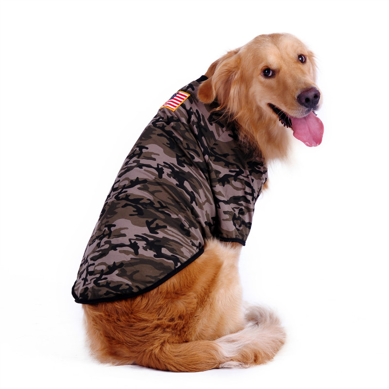 Large Dog Clothes T-Shirt for Large Dogs Camouflage Style Big Dog T-shirt Clothes For Golden Retriever Samoyed Labrador XL-4XL