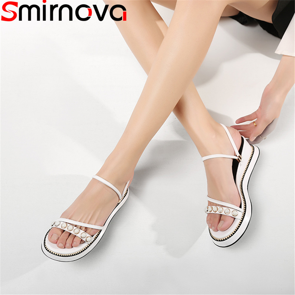 Smirnova 2018 summer new shoes woman platform casual sandals women wedges genuine leather high heels shoes comfortable zzpohe 2018 summer shoes woman sandals women casual comfortable wedges platform sandals female soft leather plus size sandals