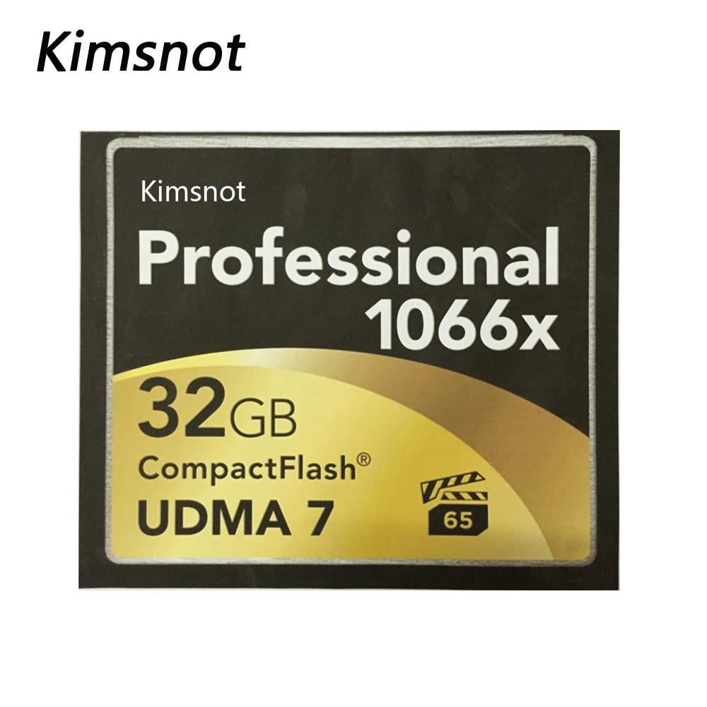 Prix pour Kimsnot Professionnel Compact Flash Carte CF 16 GB 32 GB 64 GB 128 GB CompactFlash Carte Mémoire Haute Vitesse 1066X160 M/S Réel Capacité