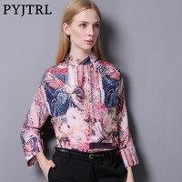 PYJTRL 2017 Autumn New Design Women S 100 Real Silkworm Silk Retro Vintage Floral Print 3