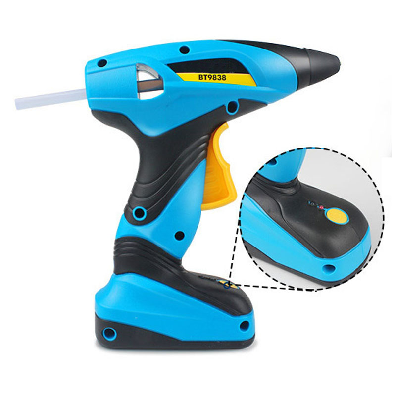 цена на Portable Cordless 7.2V Industry Electric Hot Melt Glue Gun High Temperature Graft Repair Tool With 30pcs 7mm Glue Sticks