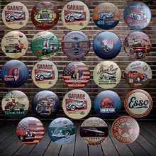 [ WellCraft ] Motor oil Garage Round MUSIC STAR Tin Signs Wall Plaque Poster Decor for House cafes Room Iron Painting HY-1702