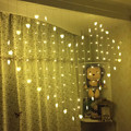 Heart-shaped Curtain Light124 LED Heart Shape String Fairy Light foy Party Christmas Wedding Curtain Festival