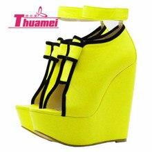 Пикантная обувь; женские туфли-лодочки; Женская обувь в гладиаторском стиле; леопардовая платформа; Каблук 15 см; сезон весна-лето-осень; женская обувь;# Y0737912F