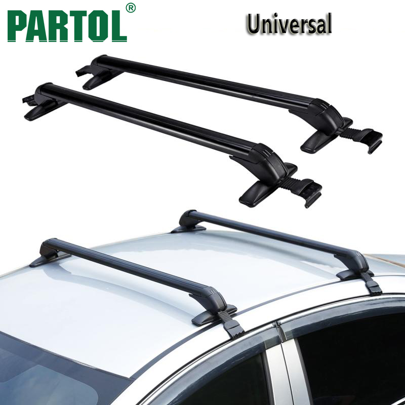 Partol Car Roof Rack Cross Bar Roof Luggage Carrier Roof Rail Anti-theft Lock 60KG/132LBS For 4-door car sedans/SUVs/Pickups partol car roof top cross bars roof rack cross bars rail carrier 150lbs aircraft aluminum for mazda cx 7 2007 2008 2009 2010 12