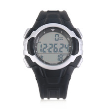 1pc TOP quality Mens Sports Watches P3158 Intelligent Outdoor 3D Pedometer Acrylic Glass Watch LED Display Silver