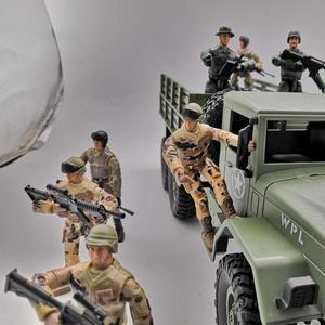 Image 4 - 10cm צבאי כוחות מיוחדים חיילים לבנים דמויות אבני בניין רב משותף מטלטלין צעצוע חייל עם קישוט צעצוע