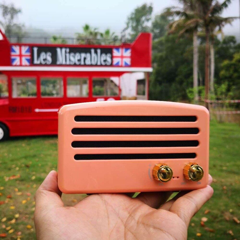 Jozqa T5 Tragbare Vintage Retro Subwoofer Stereo Mini Bluetooth Drahtlose Bluetooth Lautsprecher Für Xiaomi Samsung Huawei Iphone Weich Und Leicht