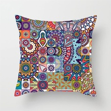 цена на Fuwatacchi Regular Geometry Painting Cushion Covers Color Print Pillow Cases Cotton For Car Home Sofa Decoration Pillow Covers