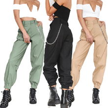 Cncool Hip Hop Pants Sport Casual Solid Zipper Women Sweatpants 2019 Fashion High Waist Loose Trousers Streetwear Harem