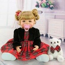 beautiful 55 cm body Silicone Reborn Baby girl Doll 22