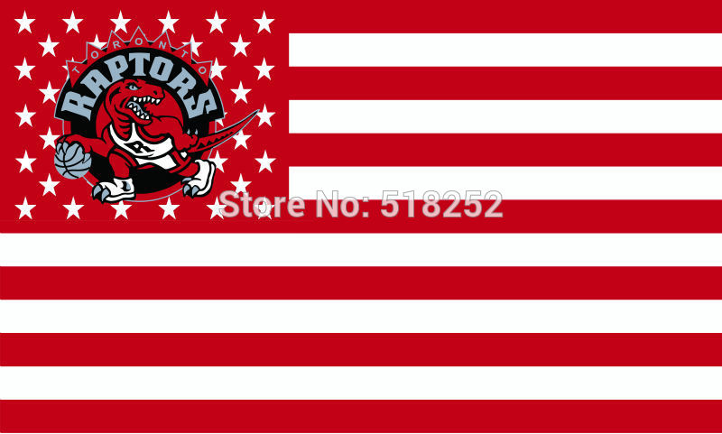 Toronto Raptors Flag007 US star and stripe 3x5 FT 150X90CM Banner copper grommets Polyester flag 115, free shipping