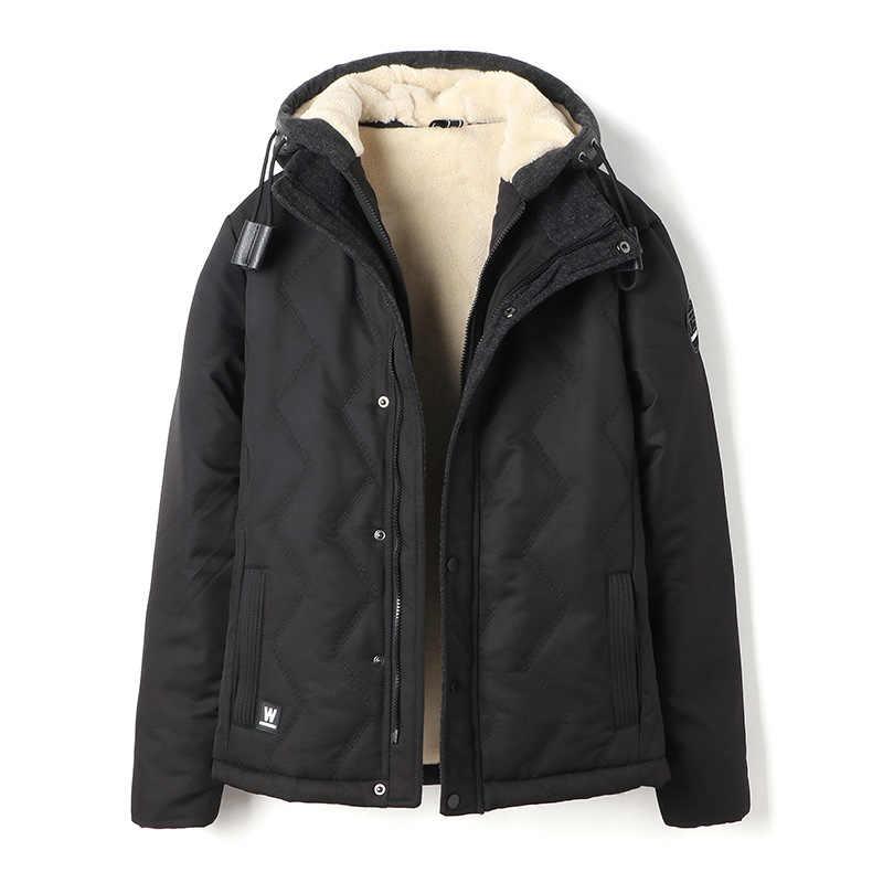 Прямая доставка  2018 г.  мужская повседневная с капюшоном зимние куртки и  пальто толстые 4503722f1bb