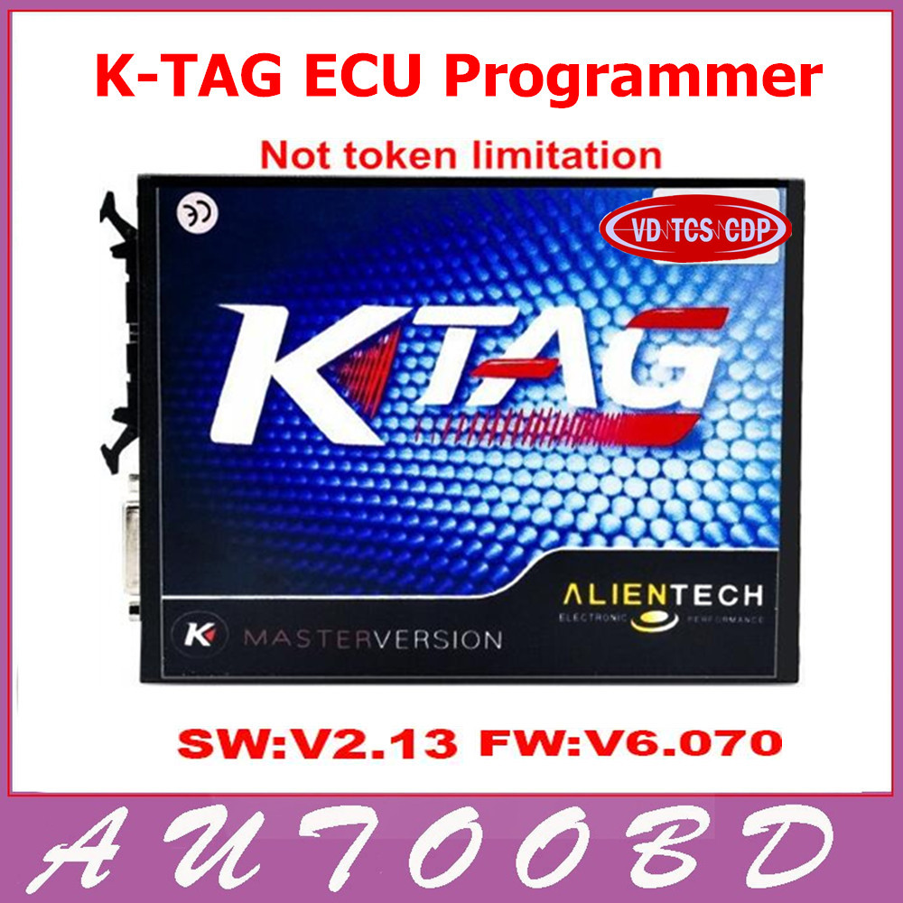 High Quality 2.13 KTAG K TAG ECU Programming Tool Master Version No Token Limited K TAG Hardware V6.070 Via DHL Freeshipping 2016 top selling v2 13 ktag k tag ecu programming tool master version hardware v6 070 k tag unlimited tokens
