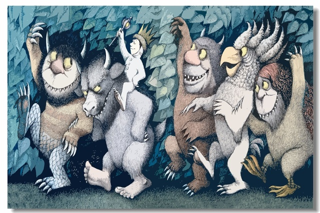 Custom Canvas Wall Painting Wild Things Poster Where The Wild Things ...