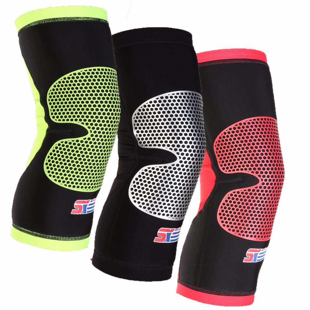 2018 Limited Sports Knee Pads Breathable Cycling Leg Sleeves Support Brace Wrap Protector Basketball Kneepad Anti-collision1pcs