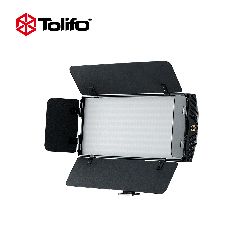 Tolifo PT-30B II Ultra Thin Bi-color Temperature 2.4G Wirelesss Remote Control LED Video Camera Light with Barndoors for DSLR
