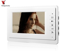 YobangSecurity 7 Inch Color TFT LCD Screen Monitor Wired Doorbell Door Video Phone Intercom for House Office Apartment
