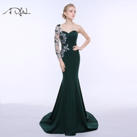 Hot Sale Mermaid Evening Dress One Shoulder Prom Dress