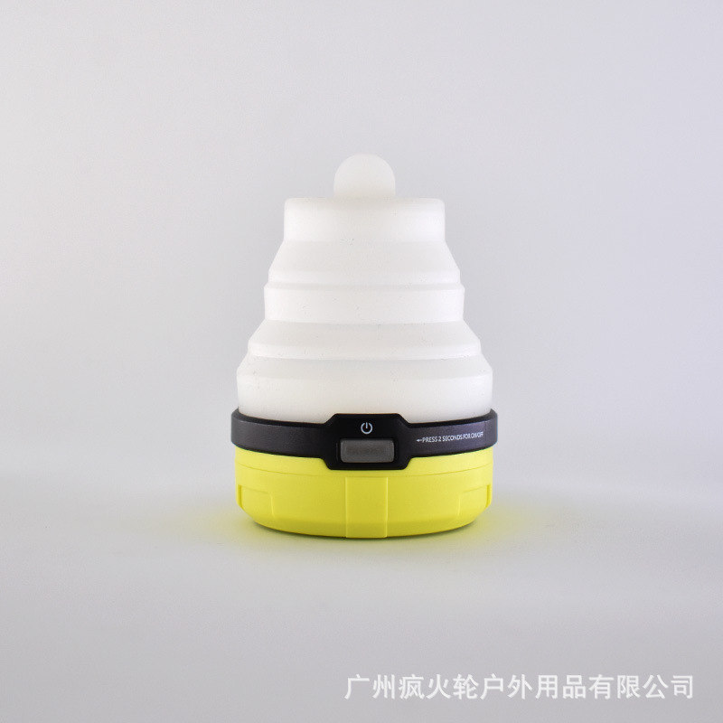 Silicone Retractable Camping Lights Rechargeable Colorful Night Light LED Outdoor Tent Lights