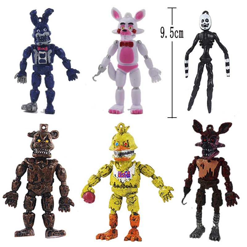 New arrival Five nights FNAF 4 Pcs Five Nights At Freddy's Bonnie Foxy Freddy Fazbear Bear Night Freddy Toys Action Figure