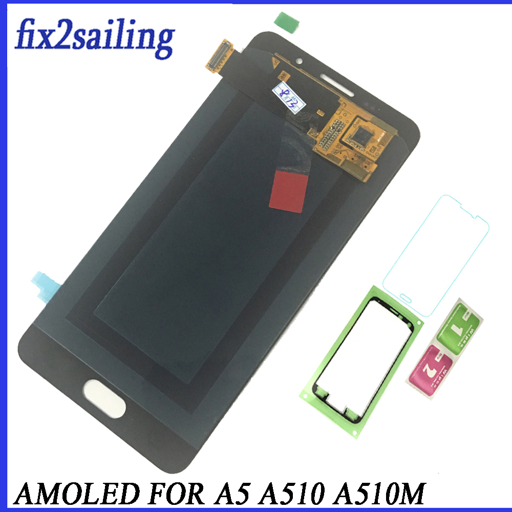 Super AMOLED LCD Display For Samsung Galaxy A5 2016 A510F A510M A510FD A5100 A510Y Lcd Screen Replacement Digitizer AssemblySuper AMOLED LCD Display For Samsung Galaxy A5 2016 A510F A510M A510FD A5100 A510Y Lcd Screen Replacement Digitizer Assembly