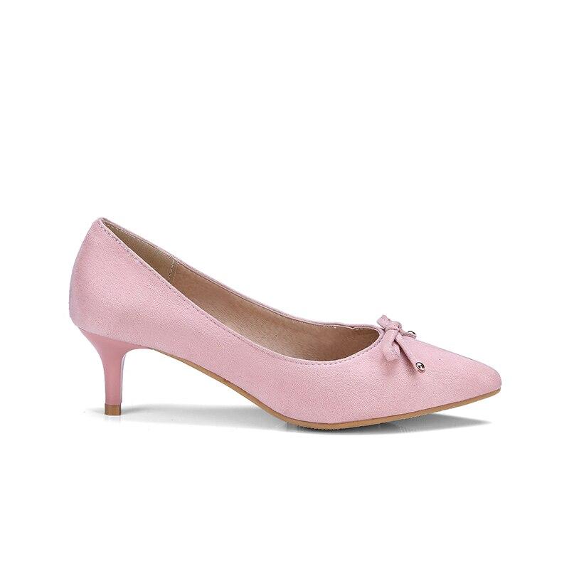 fc1369570 KARINLUNA 2018 Bombas de Grande Tamanho 33 47 Bowtie Deslizamento Na Mulher  sapatos de Design Da Marca Mulher Verão Bombas Preto Rosa Saltos Finos  sapatos ...