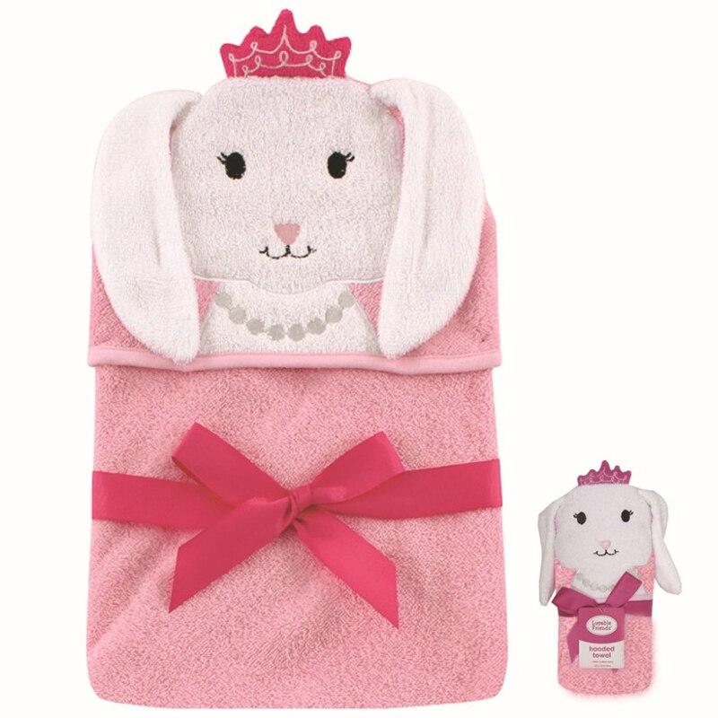 Baby bear luvable friends baby bath towel with newborn children cap cotton blankets