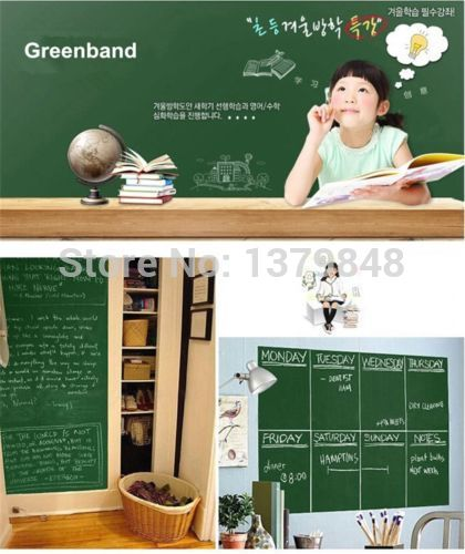 Chalkboard Greenboard Whiteboard Wall Sticker Dry Erase Self Adhesive Kids  Room 200*45cm Part 66