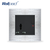 Universal 3 Pin Socket With 1 Gang 2 Way Switch Wallpad Luxury Wall Light Switch Outlet