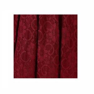 Image 4 - OML515J # النبيذ الأحمر الدانتيل قصيرة الأكمام الكرة ثوب وصيفة الشرف فساتين الزفاف حفلة موسيقية فستان رخيصة بالجملة النساء ملابس عصرية