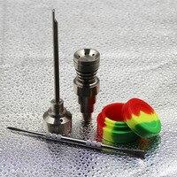 Hookah Herramienta 10/14/18mm gr2 titanio nail CARB Cap Dabber silicona JAR vidrio hookah fumar agua Tuberías tubo de vidrio