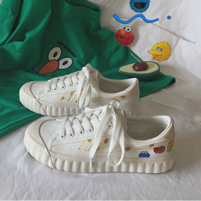 Fashion Women Sneakers Casual Vulcanize Shoes Female Summer Canvas small white shoes Japanese hand-painted  Yasilaiya