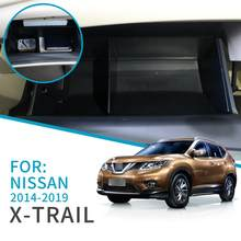 Car Glove Box Interval Storage For Nissan X-TRAIL 2014 ~ 2019 XTRAIL T32 Accessories Console Tidying Central Storage Box(China)