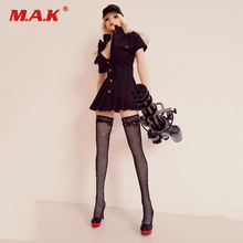 цена на 1/6 Scale Customized Sexy Black Police Uniforms & Socks for 12 inch Action Figure DIY for 12 inches Woman Action Figure Body