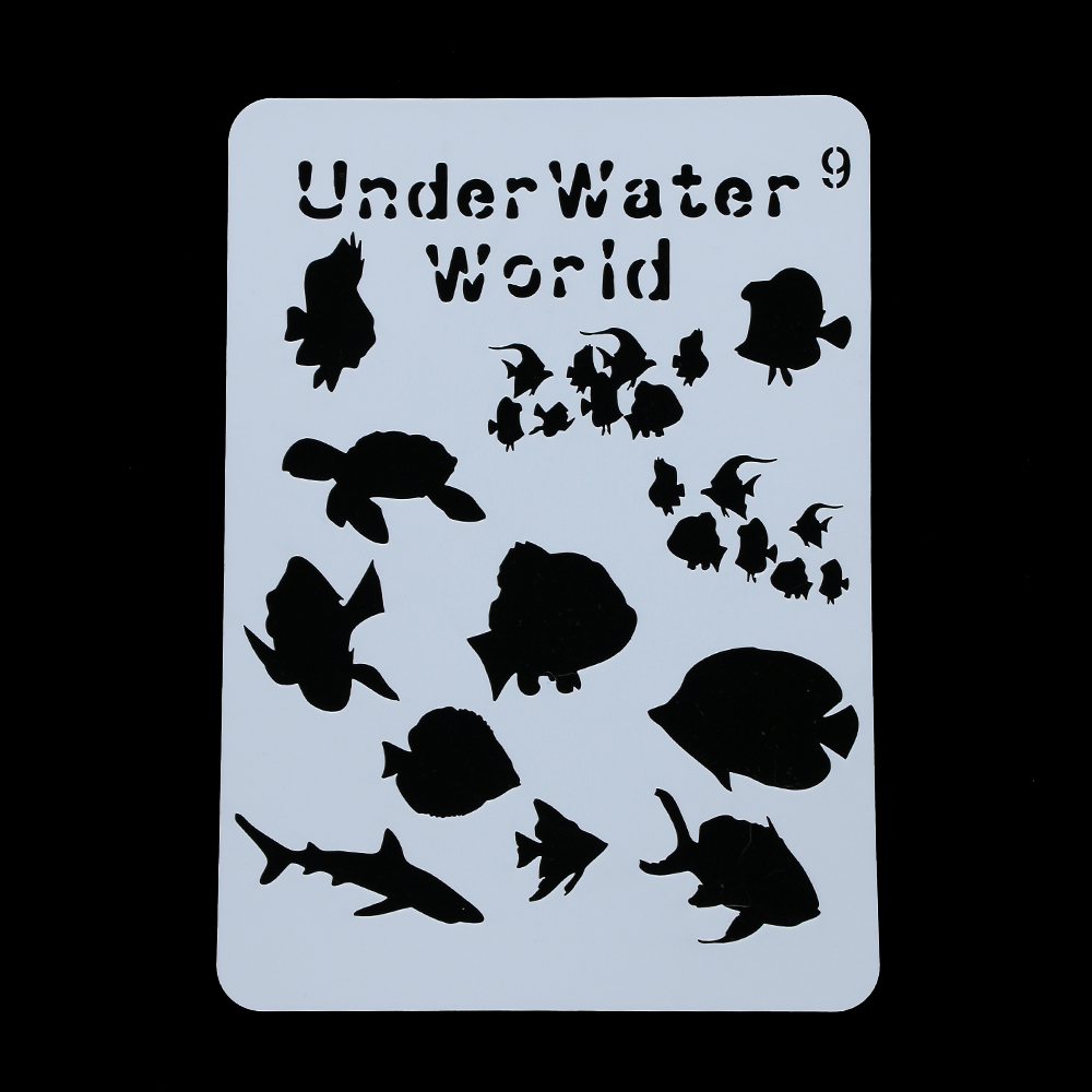 Sea world Stencils For Wall Painting Scrapbooking Stamping Stamp Album Decorative Embossing Card Template(China)