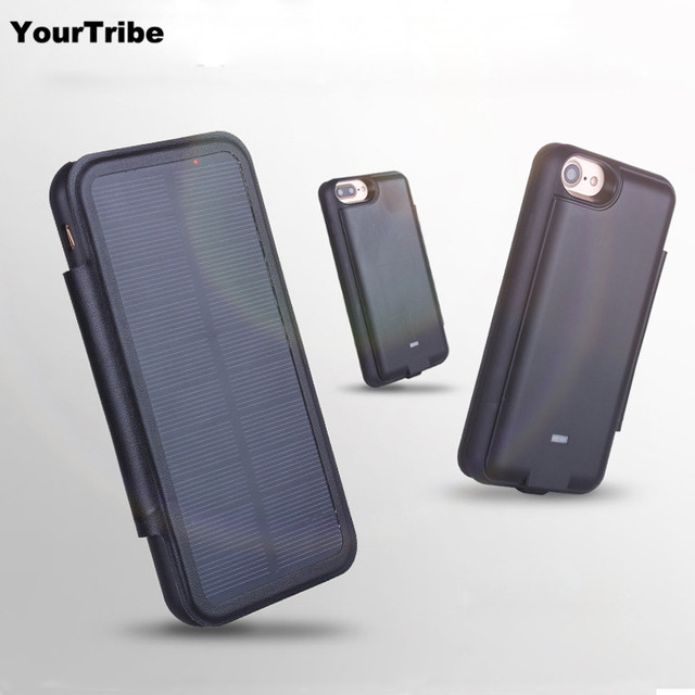 YourTribe 5000mAh Solar battery case for iphone 6 6s plus 7 plus 3000mah  power bank For 9145501c1287